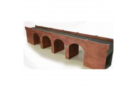 Double Track Red Brick Viaduct Card Kit OO Scale