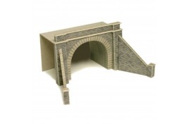 Double Track Tunnel Entrances (one pair) Card Kit N Scale