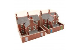 Red Brick Terrace Houses Card Kit N Scale