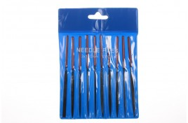 10pc Needle Files Set with Cushion Handles in Wallet