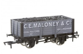 OO Gauge 5 Plank Wagon with Coal Load C.E.Maloney & Co, Gillingham, Dorset - Buffers Exclusive