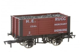 7 Plank Wagon with Coal Load H.E. Rugg, Sherborne - Buffers Exclusive