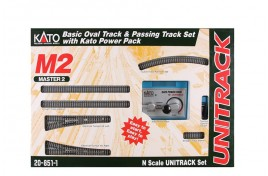 M2 Basic Oval with Passing Loop & Kato Controller