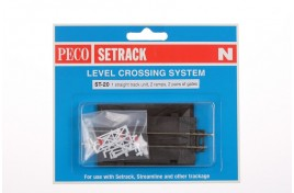 Straight Track Level Crossing with Gates N Scale