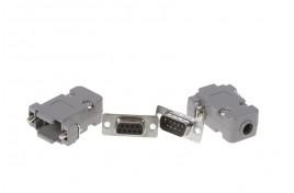 9 Way Solder Lug D Connector Plug, Socket and Hood Set