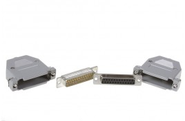 25 Way Solder Lug D Connector Plug, Socket and Hood Set