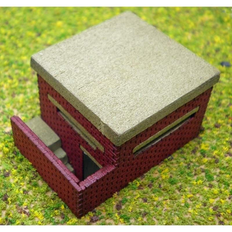 NDP1 WWII Pill Box with Underground Entrance Laser Cut Kit N
