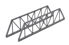 Truss Girder Bridge Sides (plastic) OO Scale