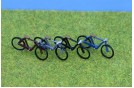 Bicycles x 4 Assembled & Painted OO Scale