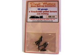 Trackside Point Levers x 4 (non-operational) OO Scale
