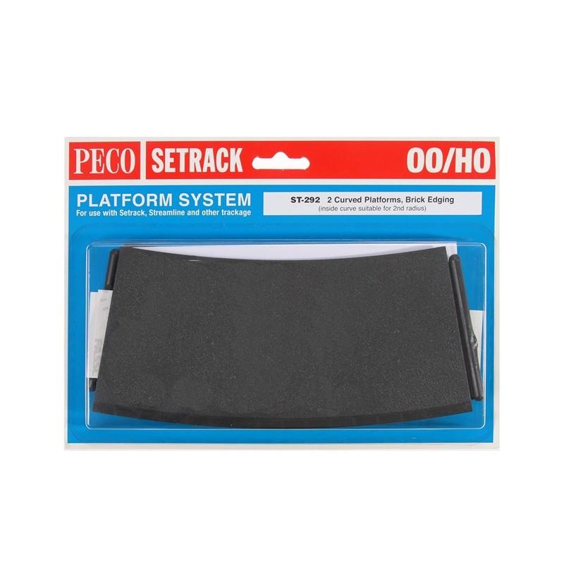 Peco ST-290 OO Gauge Platform System Straight Unit Brick Edging