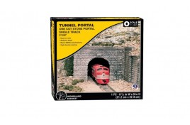 Single Track Tunnel Portal Cut Stone O Scale