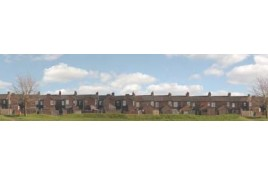 401 Terraced House Backs Backscene 10 feet x 15 inches OO Scale