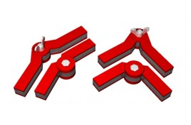 Snap & Fix Magnetic Clamps with Adjustable Angle Arms