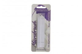 MHS10 Microfibre Microbrushes Superfine White Pack of 10