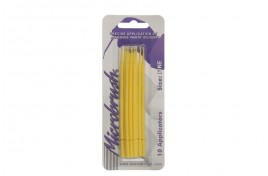 MHF10 Microfibre Microbrushes Fine Yellow Pack of 10