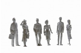 Passengers- Cast White Metal x 6 (unpainted) O Scale