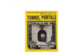Single Track Tunnel Portals Cut Stone x 2 N Scale